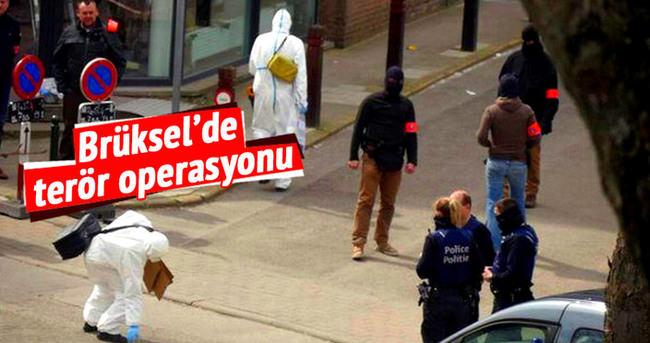 Brüksel'de apartmana polis baskını