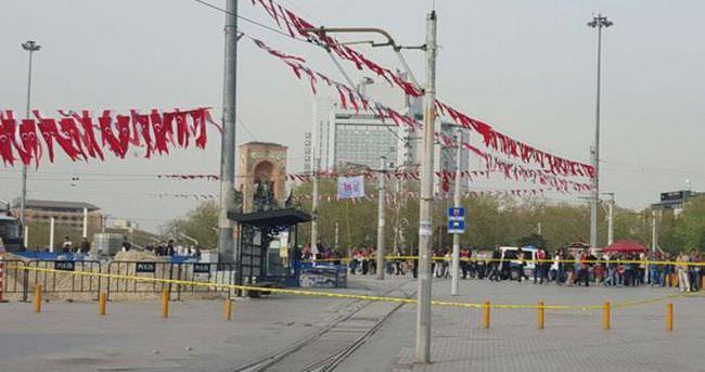 Taksim'de şüpheli çanta!
