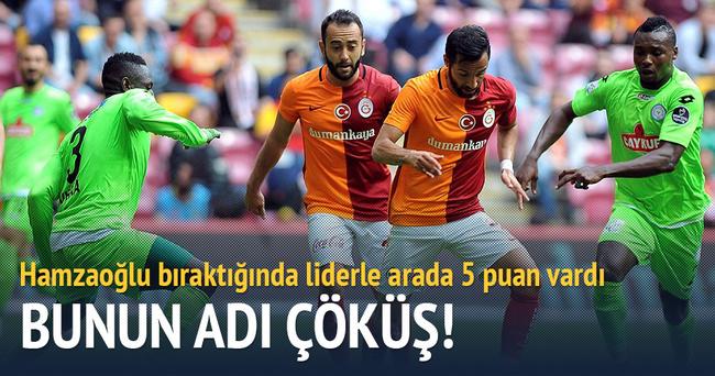 Galatasaray'da yine hüsran