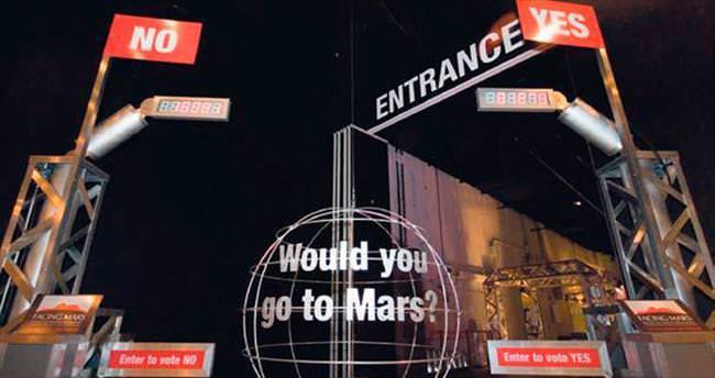 60 bin kişi Mars'a yolculuk yaptı