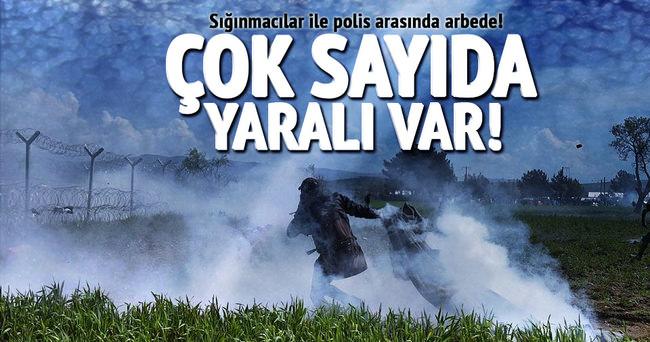 Sığınmacılar ile polis arasında arbede: 15 yaralı