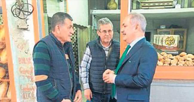 Başkan Kadir Kara esnafı ziyaret etti
