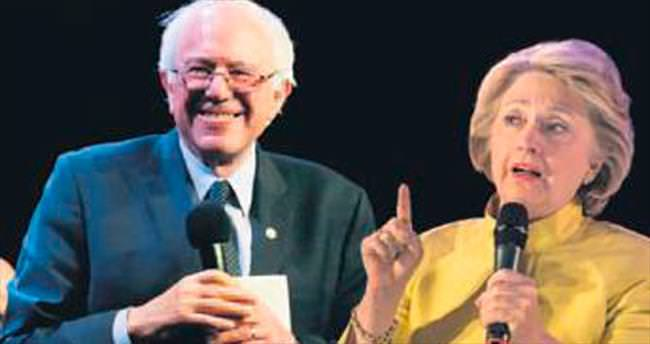 Sanders Clinton'ı bir kez daha geçti