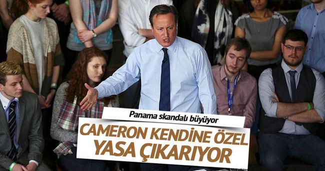 Vergi kaçırmakla suçlanan Cameron'dan 'kendisine özel' yasa