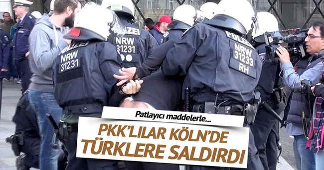 PKK'lılar Köln'de olaylar çıkardı