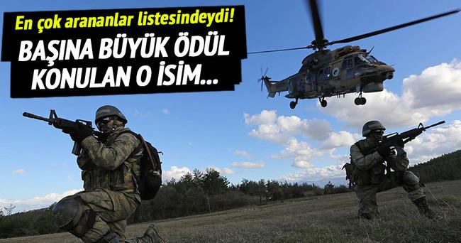 Turuncu listedeki PKK'lı öldürüldü!