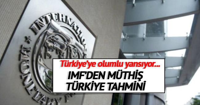 IMF Türkiye için büyüme tahminini yüzde 3,8'e yükseltti