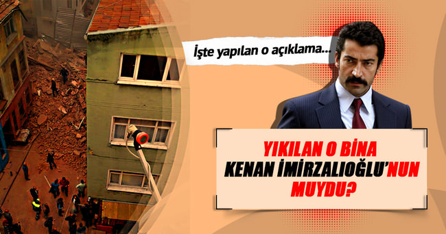 Beyoğlu'nda çöken bina Kenan İmirzalıoğlu'nun amcasının oğlunun çıktı!
