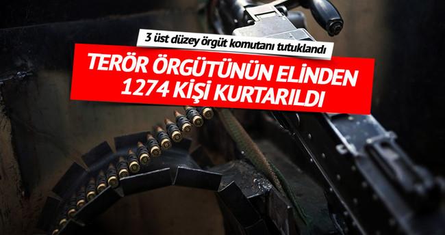 Terör örgütünün elinden1274 kişi kurtarıldı