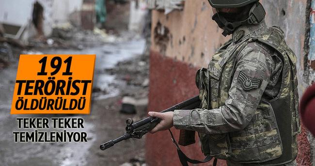 Şırnak'ta 191 terörist öldürüldü