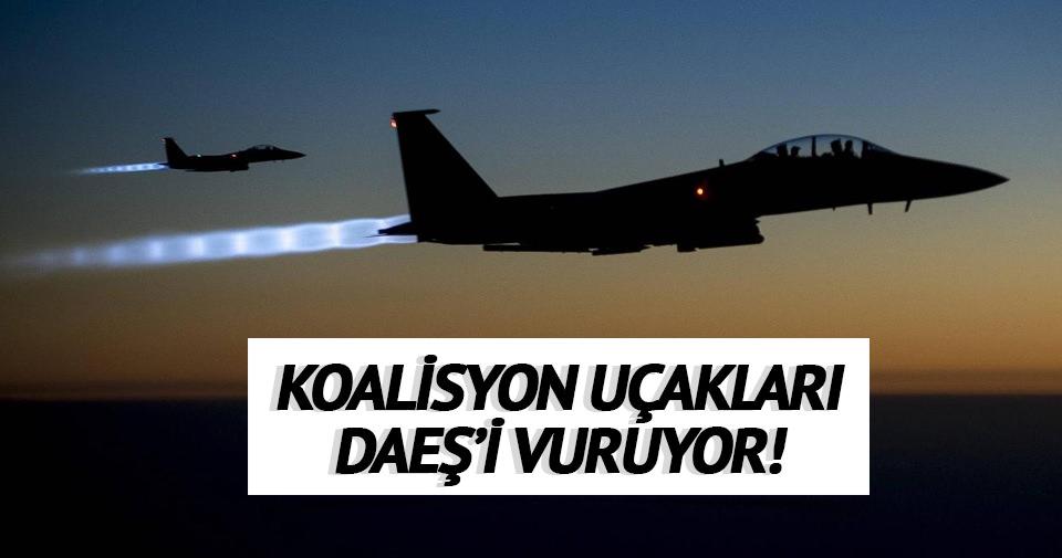 Koalisyon uçakları DAEŞ'i vuruyor