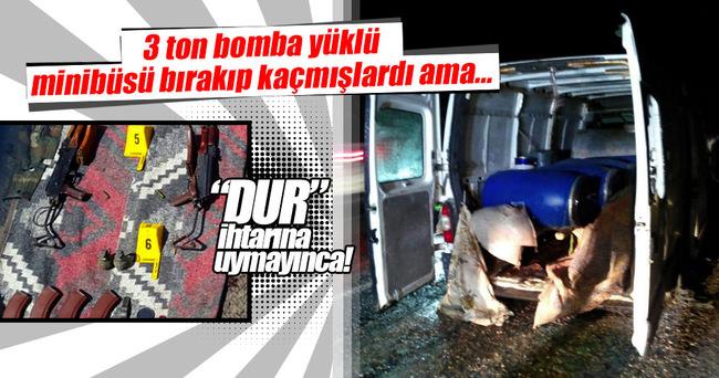 Mardin'de 3 ton bomba yüklü araçla saldırıya hazırlanan 2 PKK'lı öldürüldü