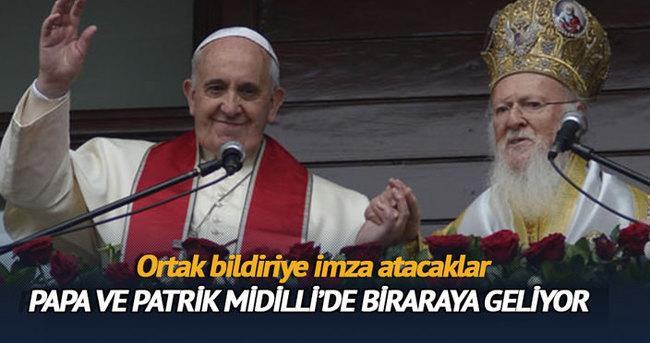 Patrik ve Papa yarın Midilli'de buluşacak
