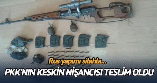 PKK'nın keskin nişancısı teslim oldu!