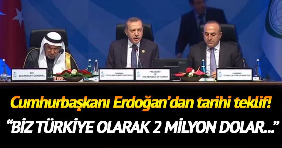 Cumhurbaşkanı Erdoğan'dan tarihi teklif