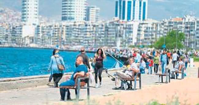 İzmir'de 4 gün hava yaz gibi