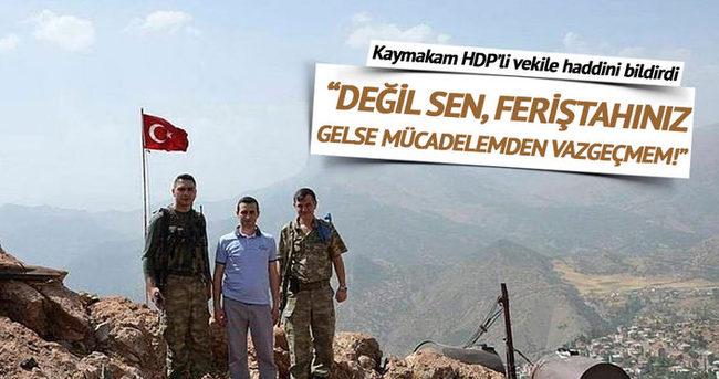Kaymakam HDP'li vekilin haddini bildirdi!