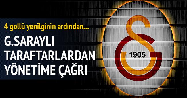 Galatasaraylı taraftarlardan istifa çağrısı