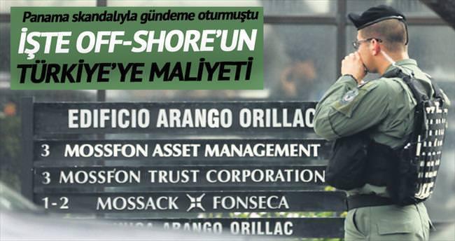 Off-shore'un Türkiye'ye maliyeti 1.5 milyar TL