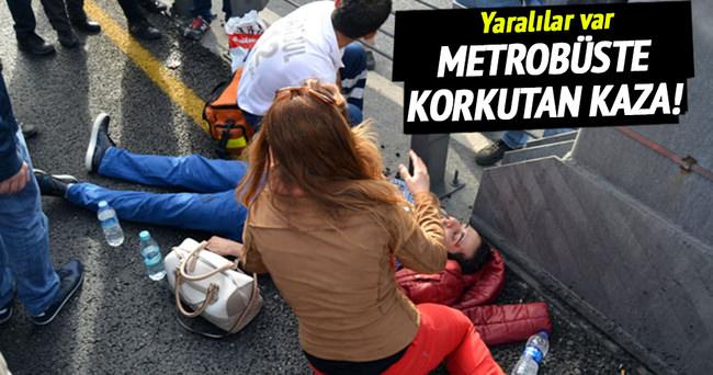 Metrobüste kaza: 4 yaralı