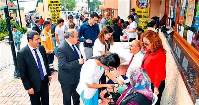 Vatandaşlara ücretsiz sağlık hizmeti sunuldu