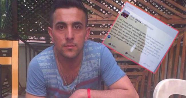 Facebook'ta veda yazısı yazıp intihar etti