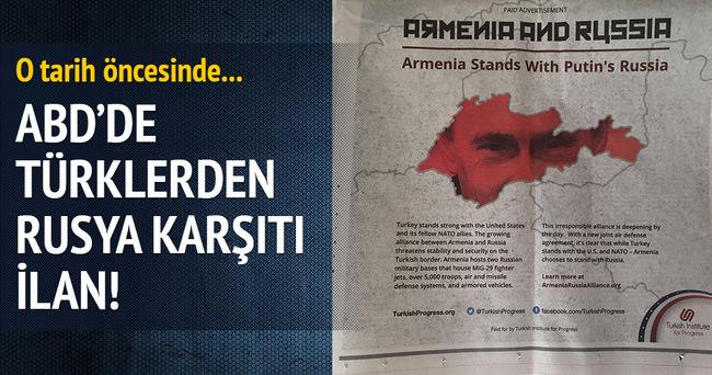 Türklerden Washington Post ve WSJ'ye Rusya karşıtı ilan
