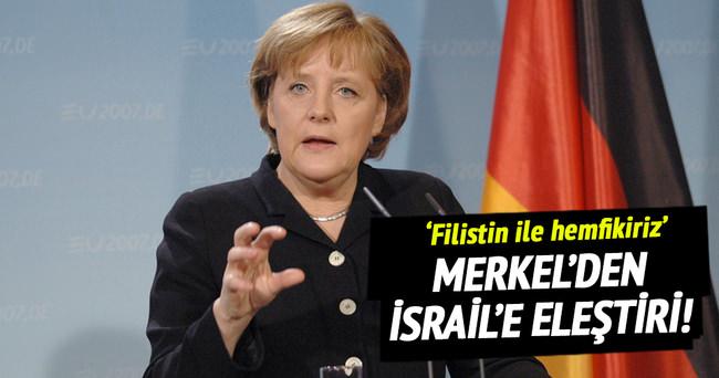 Merkel'den, İsrail'e eleştiri!
