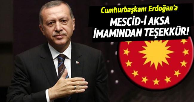 Mescid-i Aksa imamından Cumhurbaşkanı Erdoğan'a teşekkür