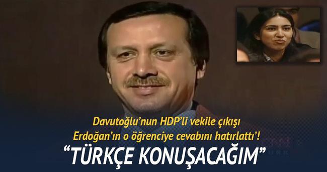 Erdoğan Türkçe konuşacağım deyince öğrenciler böyle coşmuştu!