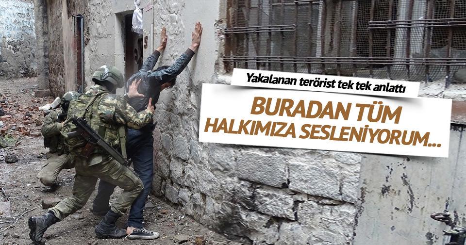 Teröristten 'pişmanlık' itirafı