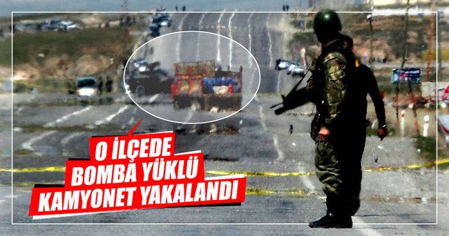 Van-Erciş'te bomba yüklü kamyonet ele geçirildi