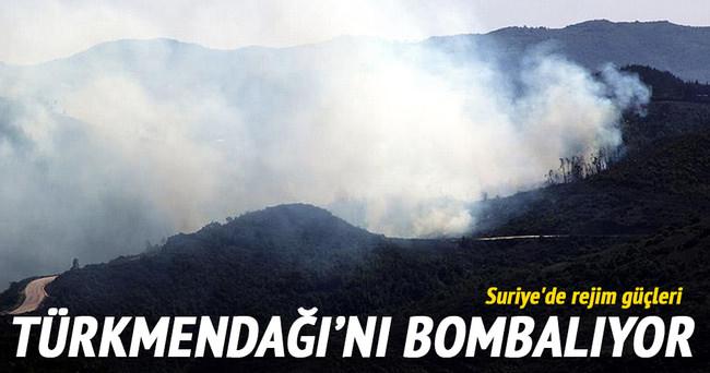 Suriye'de rejim güçleri Türkmendağı'nı bombalıyor!