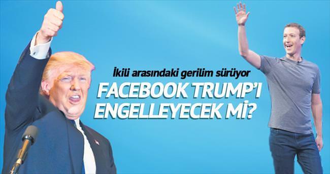 Facebook Trump'ı engelleyecek mi?