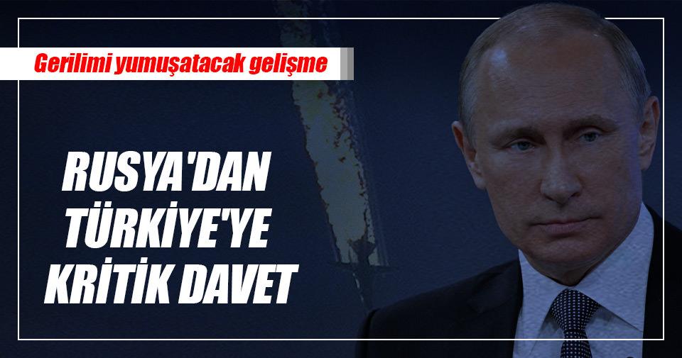 Rusya'dan Türkiye'ye kritik davet