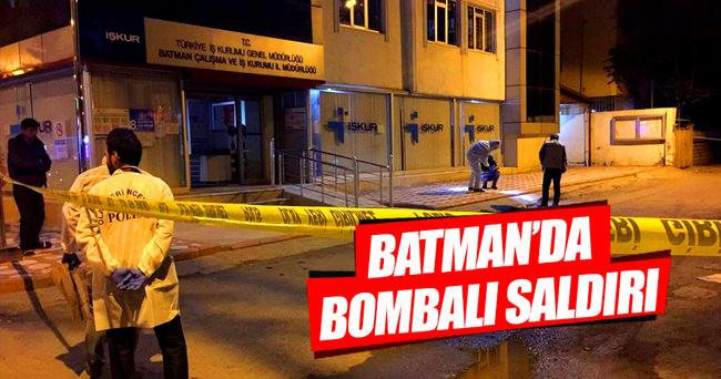 Batman'da işkur binasına bombalı saldırı