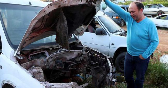 Kaza yapan aracı taksit taksit çaldılar