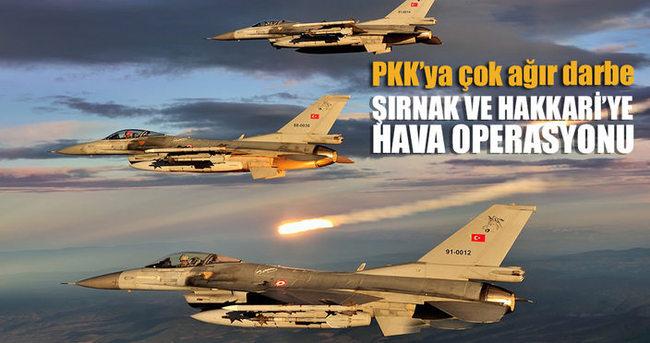 Dağlıca ve Uludere'de PKK'ya hava harekatı