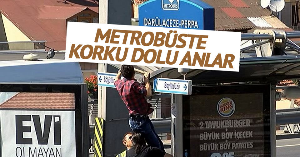 Metrobüs durağı kapatıldı!