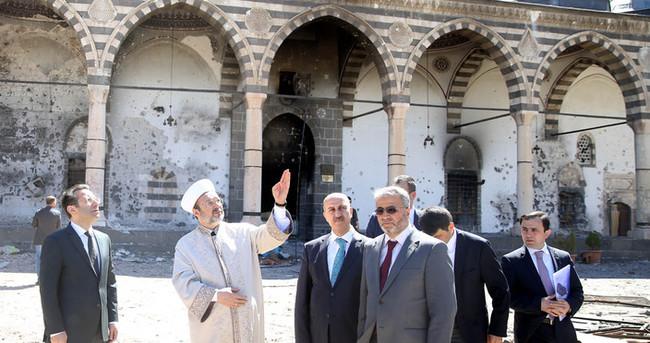 Mehmet Görmez Diyarbakır'da hasarlı camileri kontrol etti