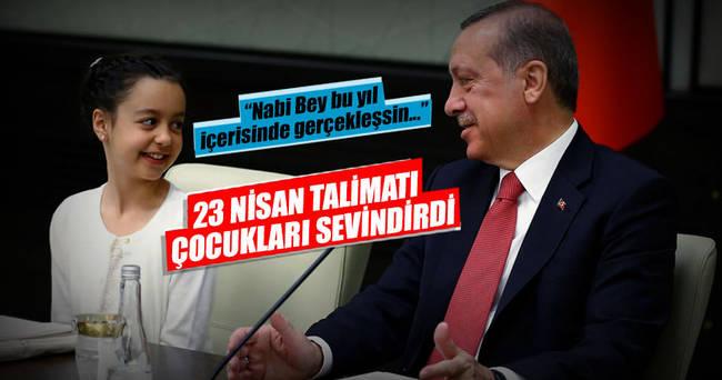 Cumhurbaşkanı Erdoğan minikleri Külliye'de ağırladı
