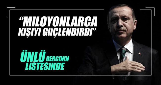 En etkili 100'den biri Erdoğan