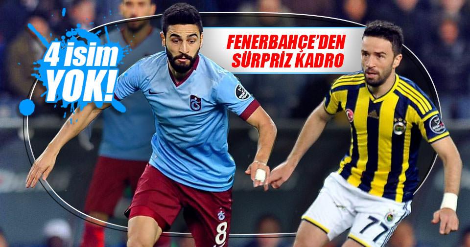 Fenerbahçe'nin Trabzonspor maçı kadrosu belli oldu