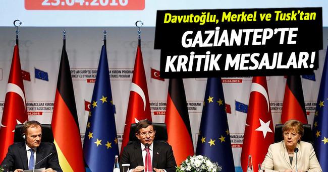 Davutoğlu, Merkel ve Tusk'tan ortak açıklama