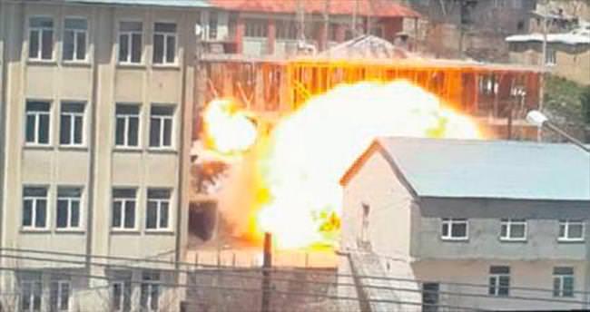 Belediye yanına bombalı tuzak