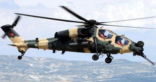 Atak helikopterle ateş altına alınan 5 terörist öldürüldü