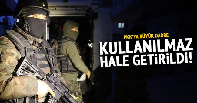 PKK sığınakları kullanılmaz hale getirildi