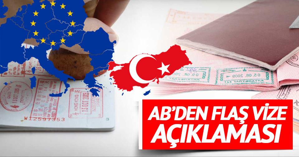 AB'den Türkiye'ye vize muafiyeti açıklaması