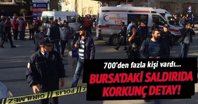 Bursa'daki intihar saldırısında korkunç detay!