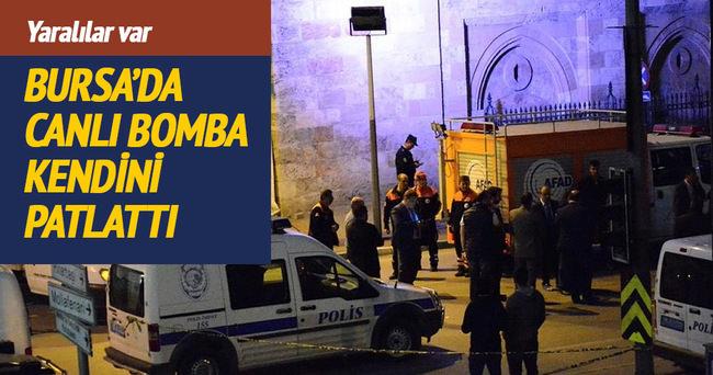 Bursa'da canlı bomba kendini patlattı